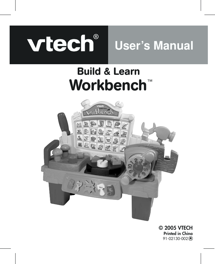 Vtech Build And Discover Workbench Owners Manual Learn