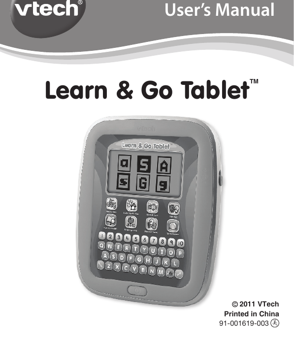 Vtech Learn And Go Tablet Owners Manual