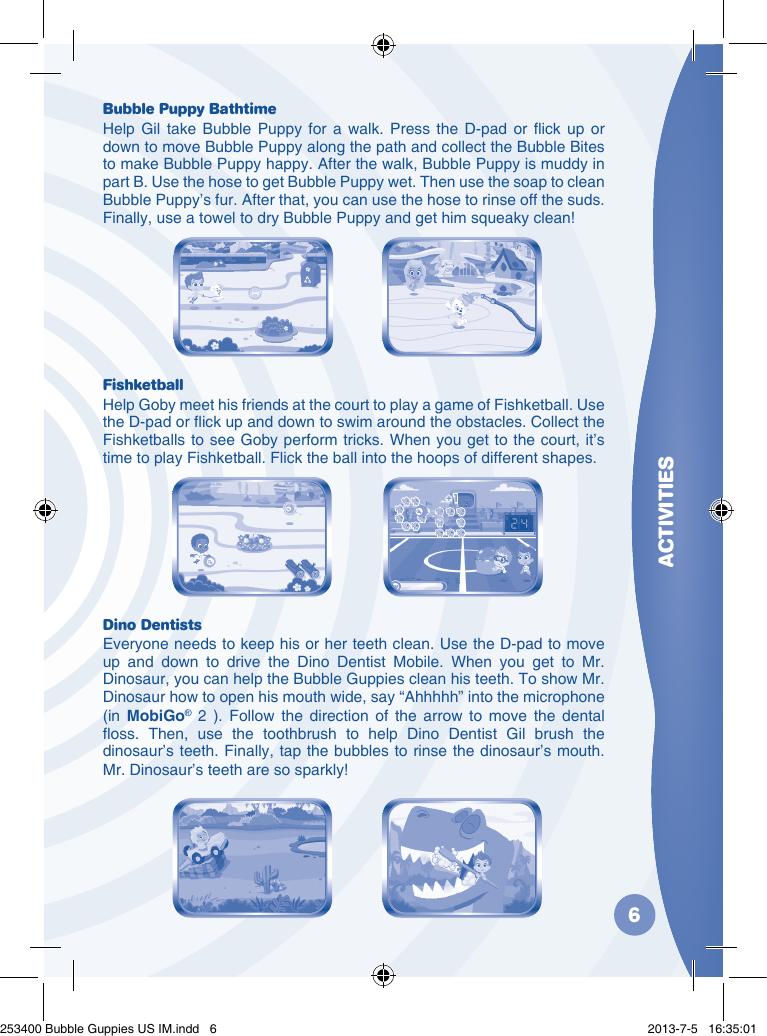 Vtech Mobigo Software Bubble Guppies Owners Manual