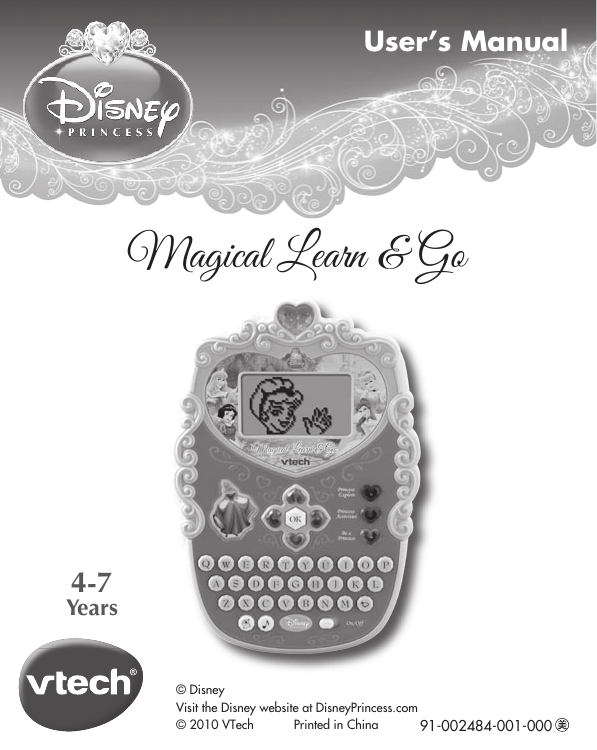 Vtech Princess Magical Learn And Go Owners Manual