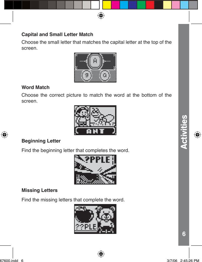 Vtech Quiz Biz Word Play Owners Manual 67600