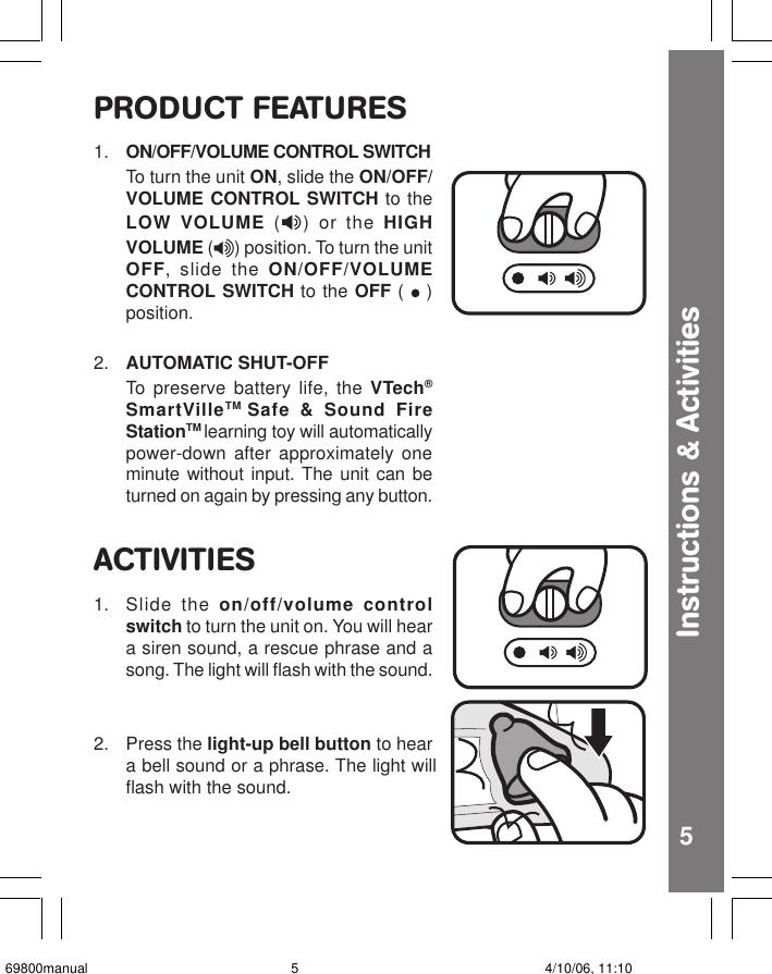 Vtech Smartville Safe And Sound Fire Station Owners Manual