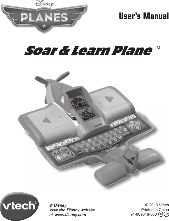 Vtech Soar And Learn Plane Owners Manual