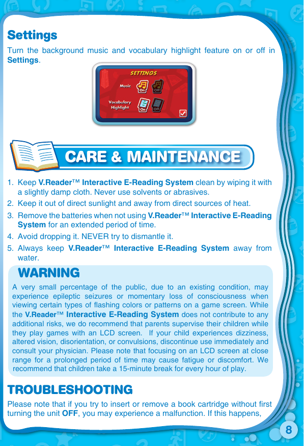 Vtech V Reader Cartridge Cars Clearance Owners Manual