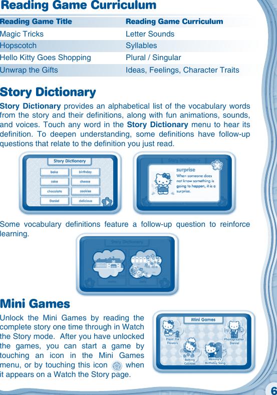 Vtech V Reader Cartridge Hello Kitty Owners Manual