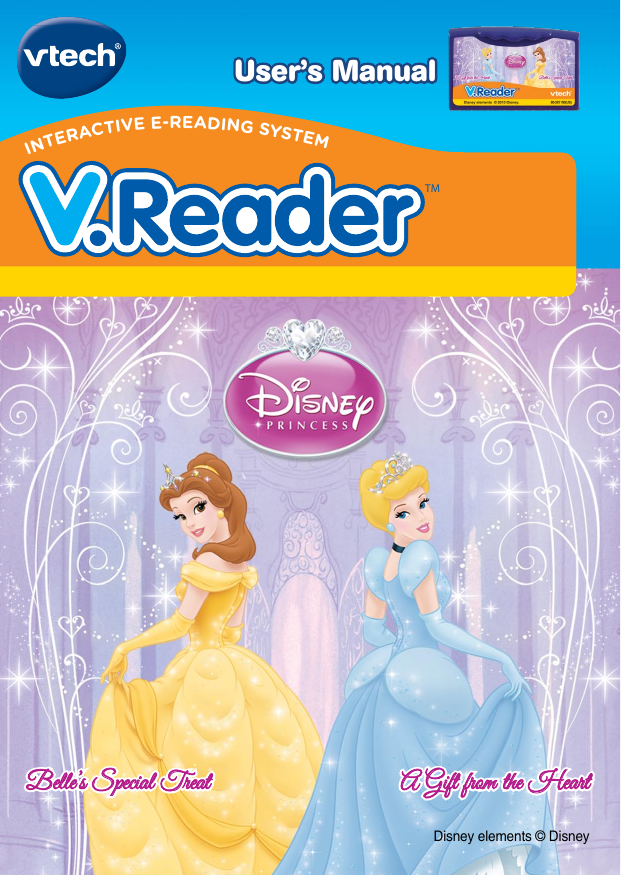 Vtech V Reader Cartridge Princess Clearance Owners Manual