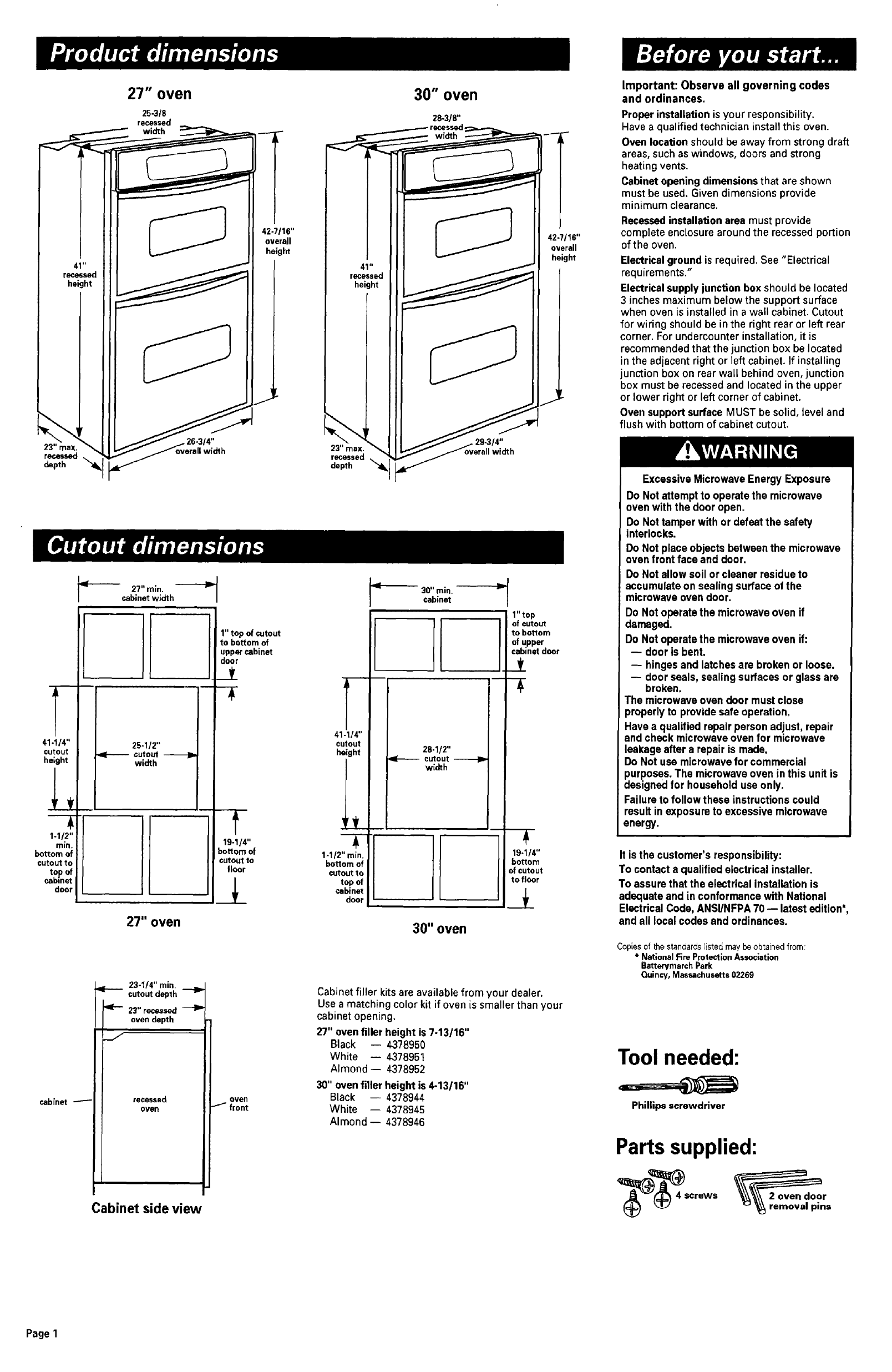 Oven Electric With Microwave Manual