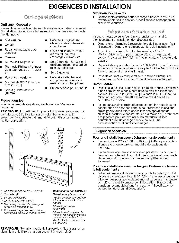 Fixation Pour Micro Onde whirlpool microwave/hood combo manual l0710187