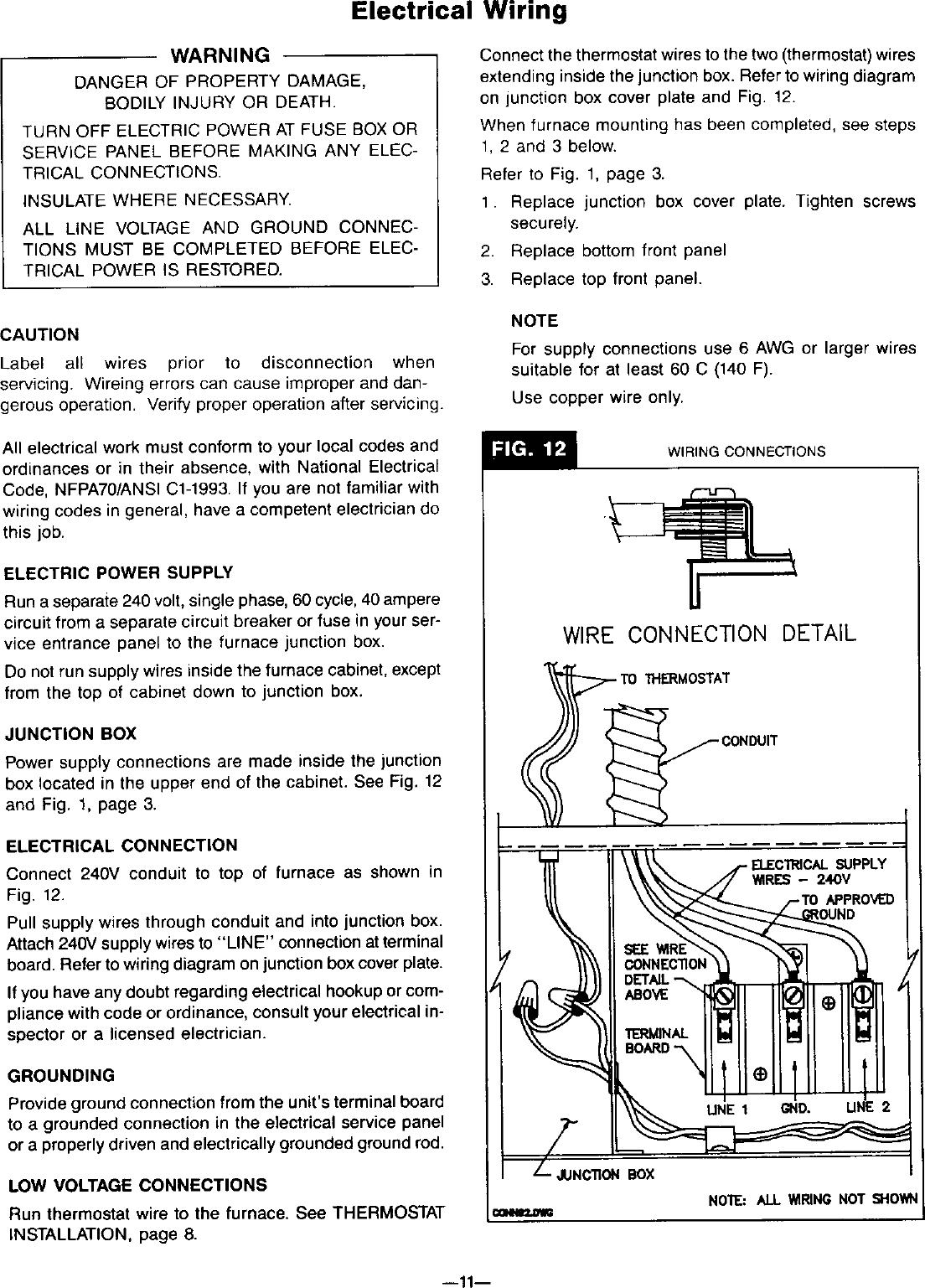 Furnace Wiring Junction Box - Wiring Diagrams Log on