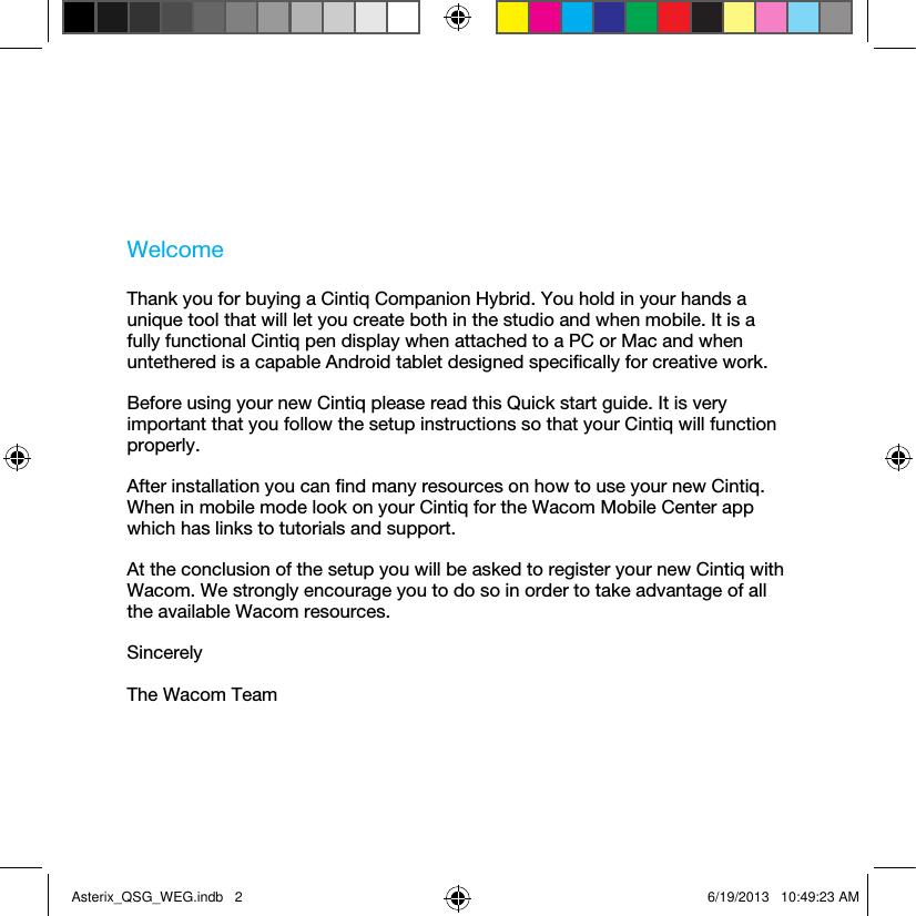 Wacom Co DTHA1300 Graphics tablet Computer User Manual Part 1