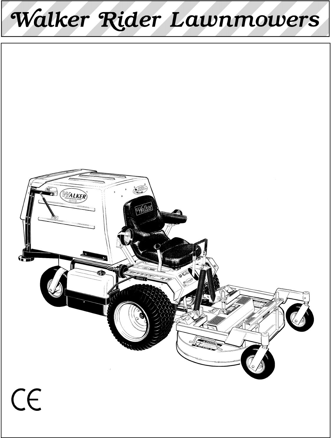 Walker Mc 16 Hp Users Manual Parts 12012000