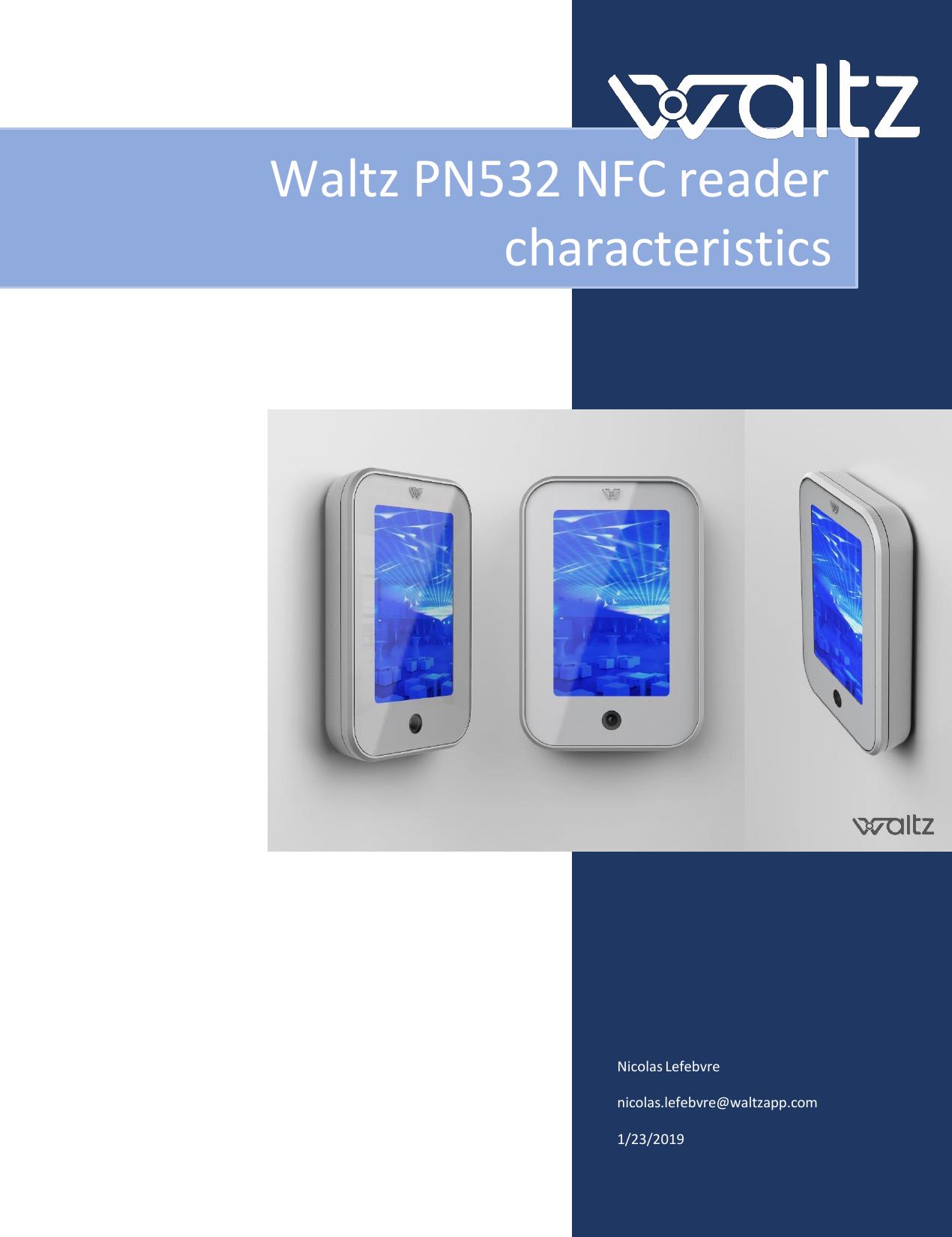 Waltz NFCPN532 Waltz NFC reader User Manual Waltz PN532 NFC reader
