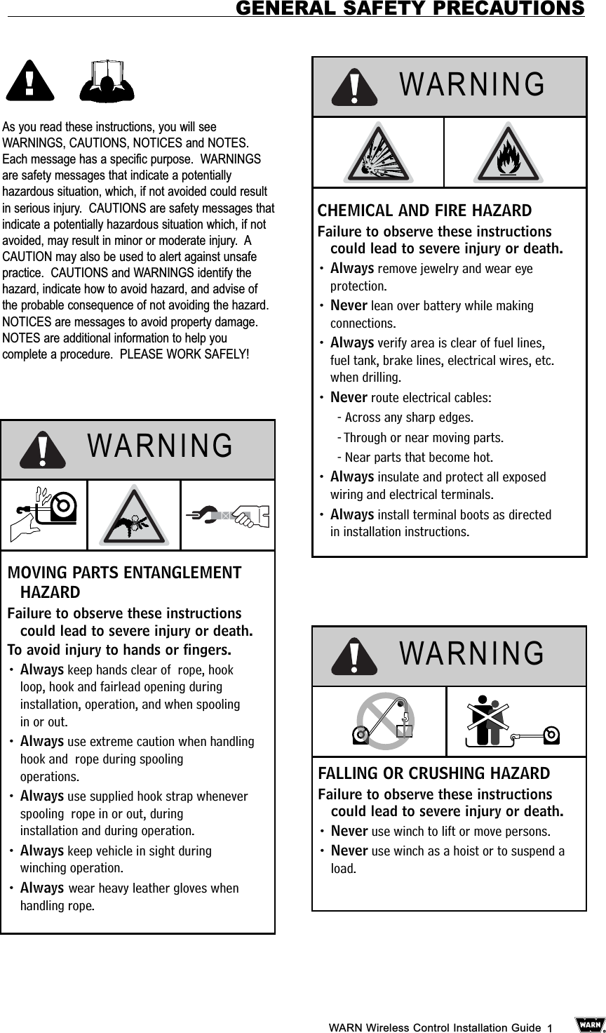 Warn Wtx001 Tunes Explorer Wireless User Manual Control Diagram Installation Guide 1as You Read These Instructions Will Seewarnings Cautions