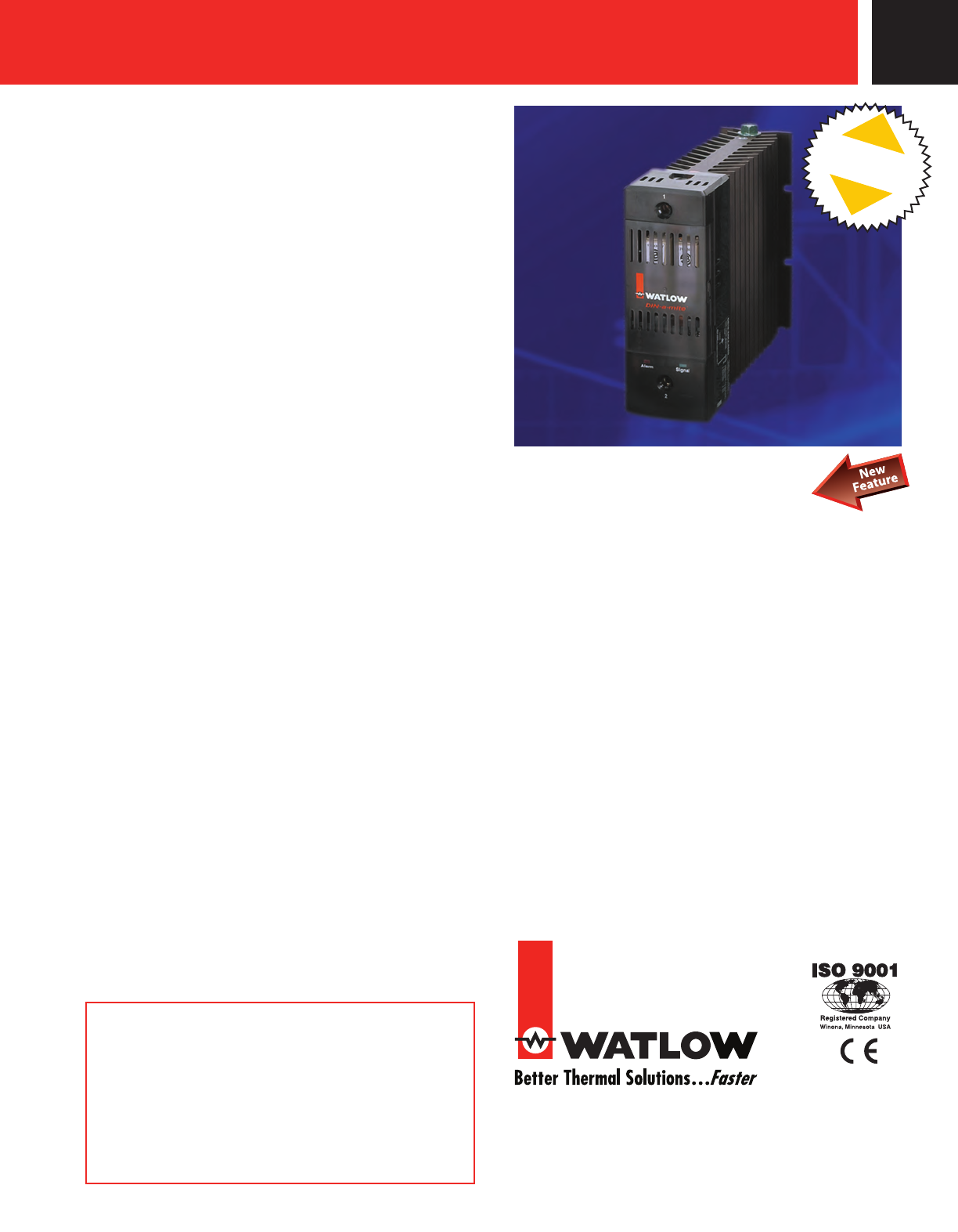Watlow Electric Din A Mite Scr Power Controller Users Manual D Pics Photos Control Circuit