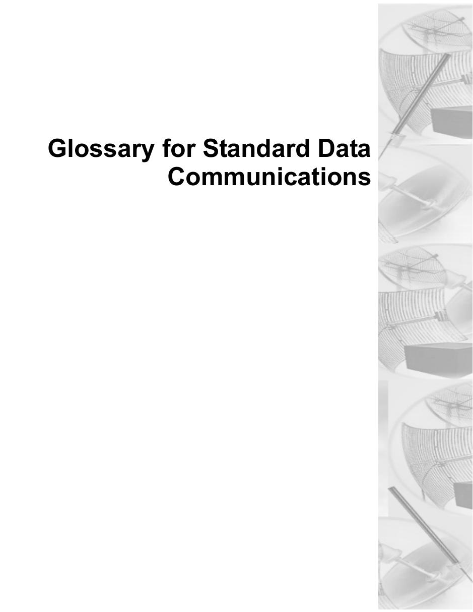 Glossary for Standard DataCommunications