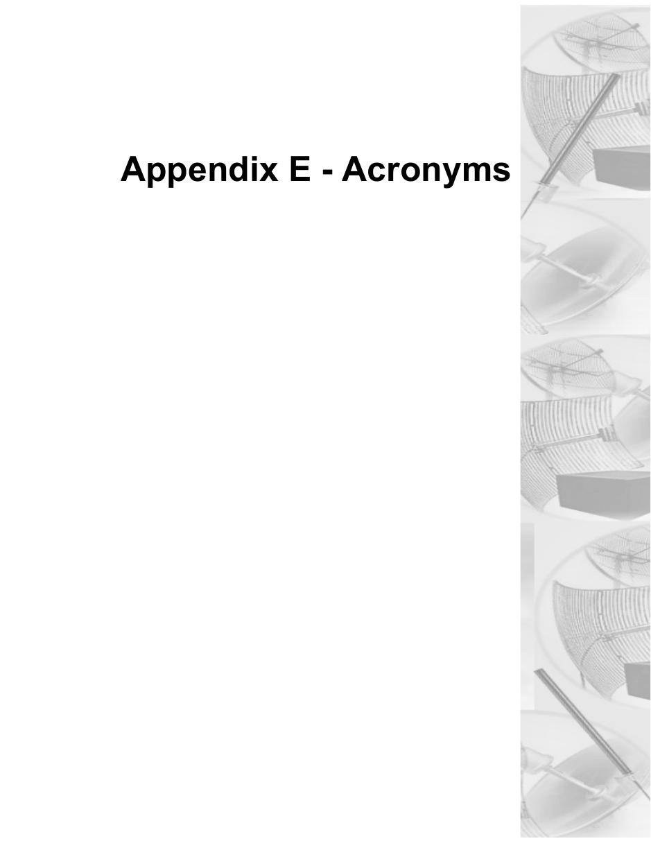 Appendix E - Acronyms