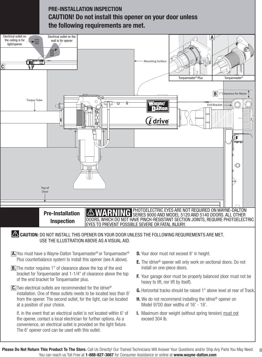 Wayne Dalton Torquemaster 3663 372 Users Manual 320687 Rev7