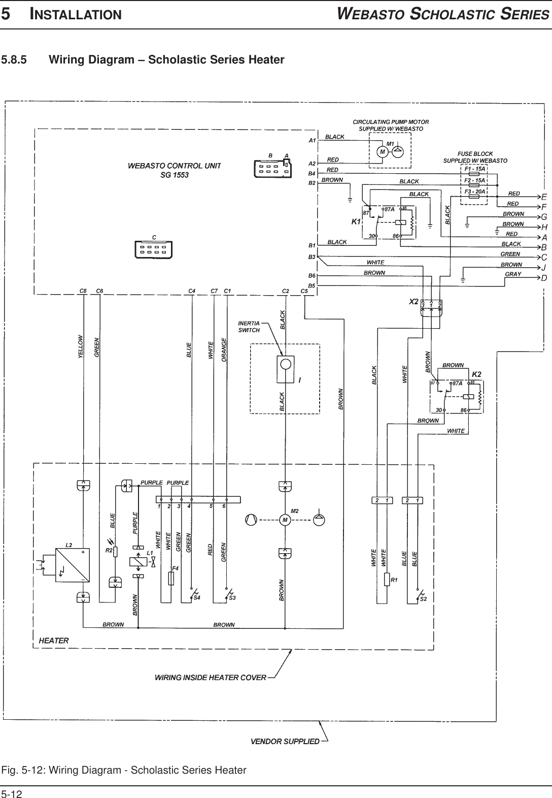 webasto heater wiring diagram webasto blue bird scholastic series users manual bluebird  webasto blue bird scholastic series