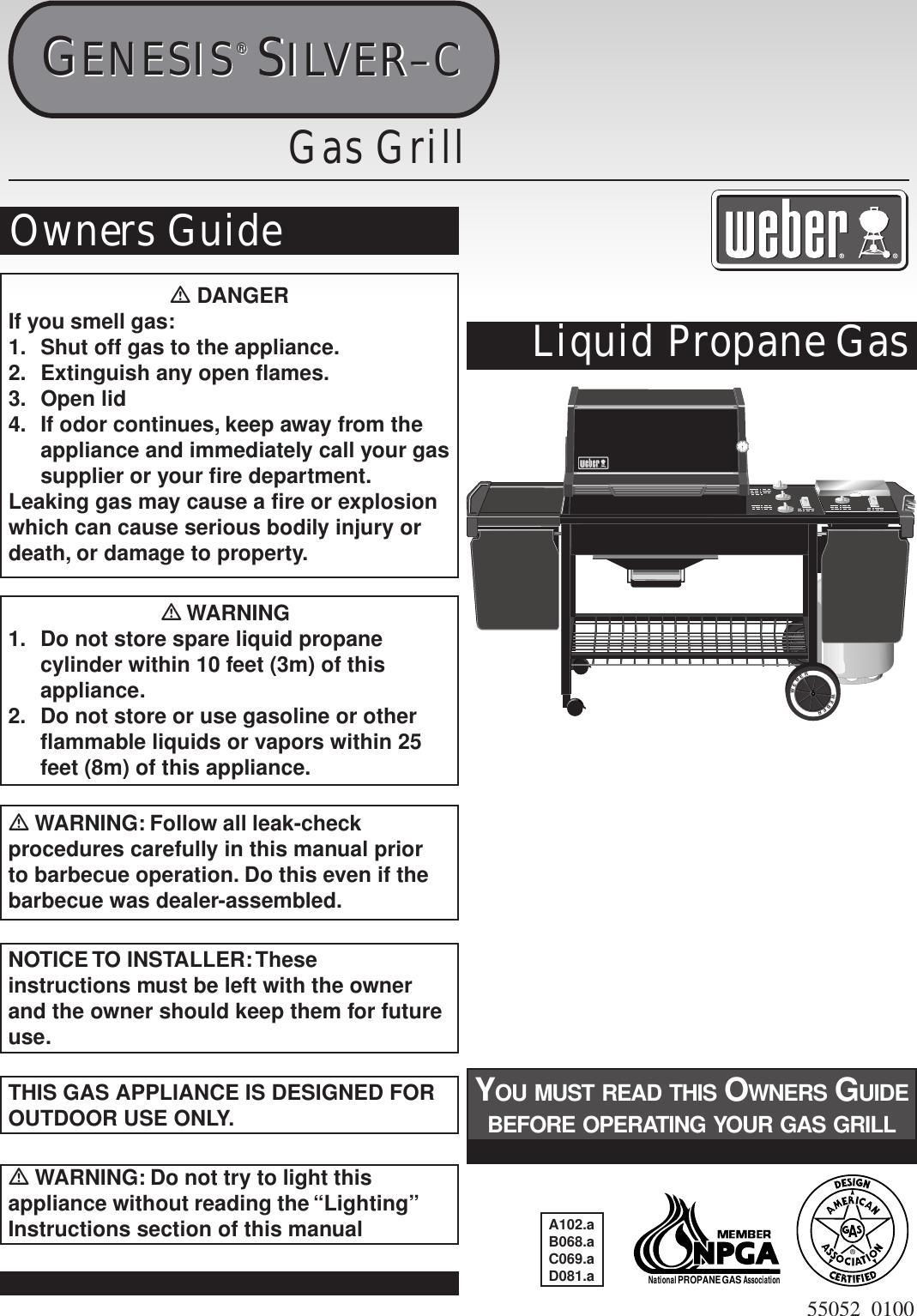 Weber 55052 0100 Users Manual Genesis Silverc Lpmica Ownersguide
