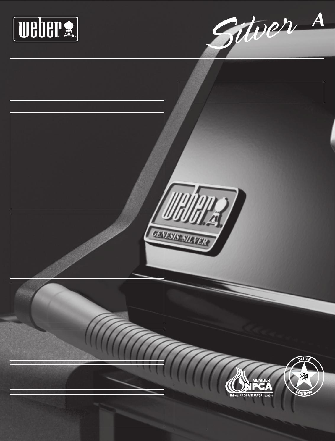 Weber 55545 Owners Manual Genesis Silver A Lp Guide 12 05 2003 Pdf File