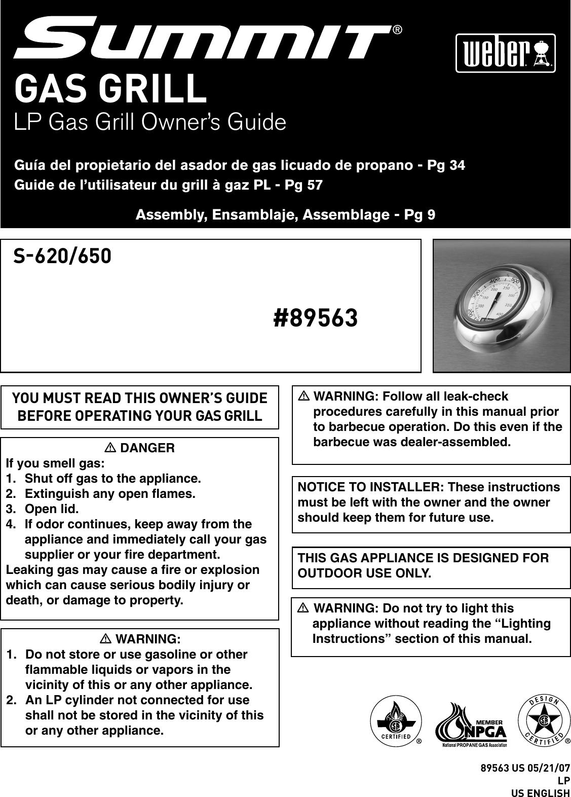 "NEUF Genuine Weber Spirit Grill Gaz Série 300 Tuyau Et Régulateur QCC1 42/"""
