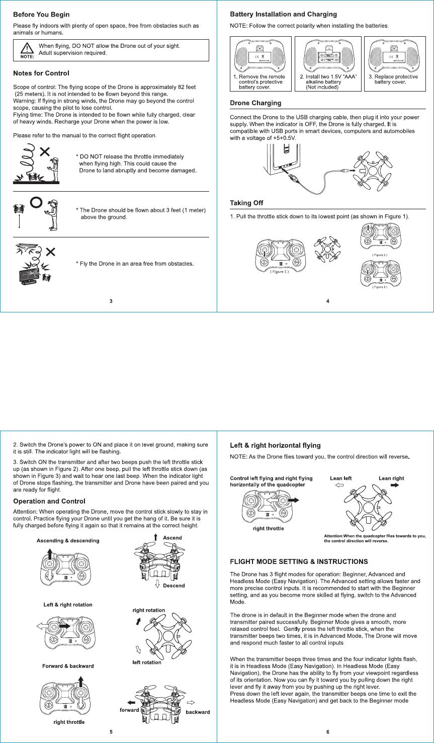 Weccan WECCAN-DRONE 2 4G 4ch RC Drone User Manual US F16 FL