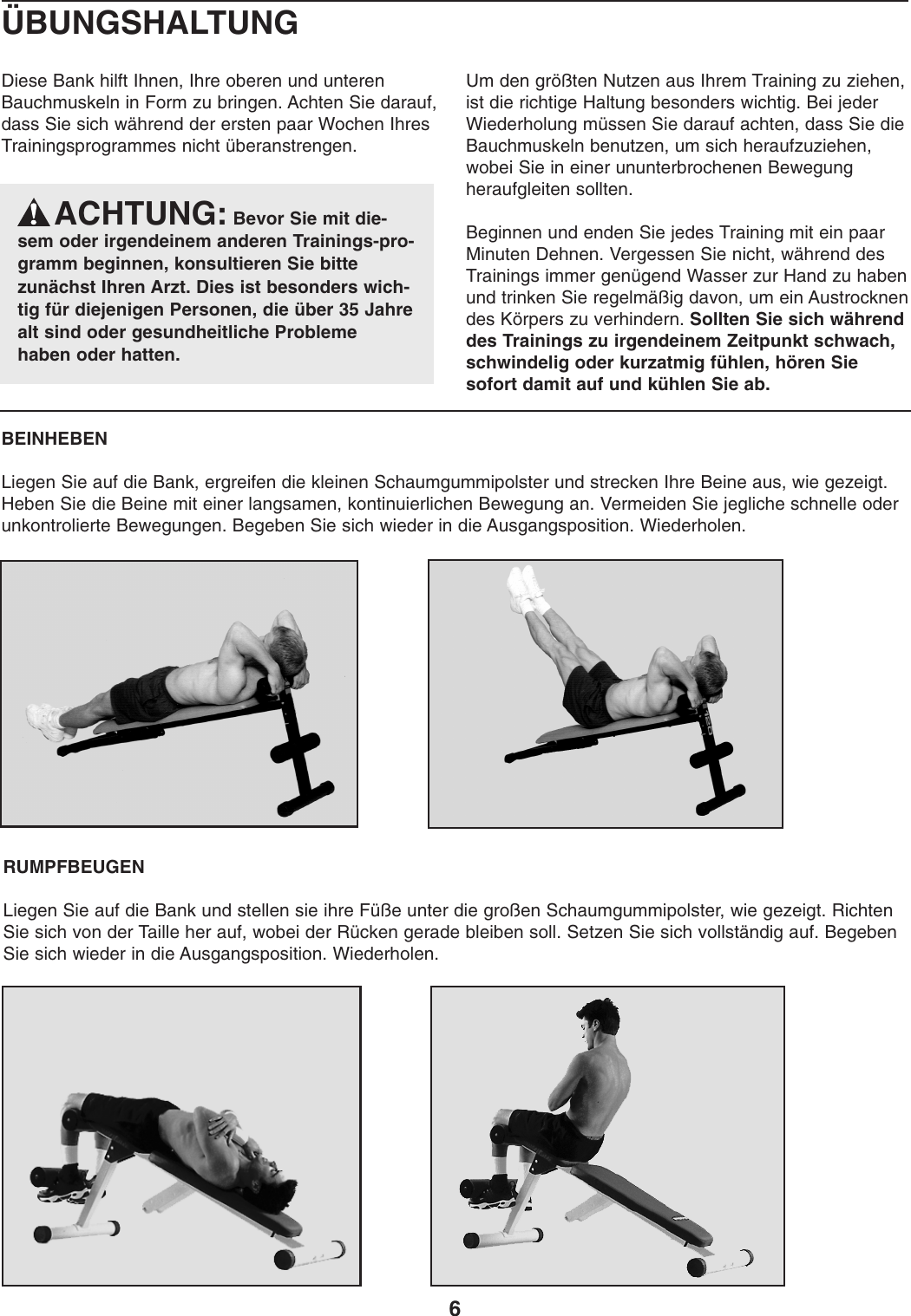 page 6 of weider weider 184 bench weembe0525 users manual - Skateboard Bank Beine