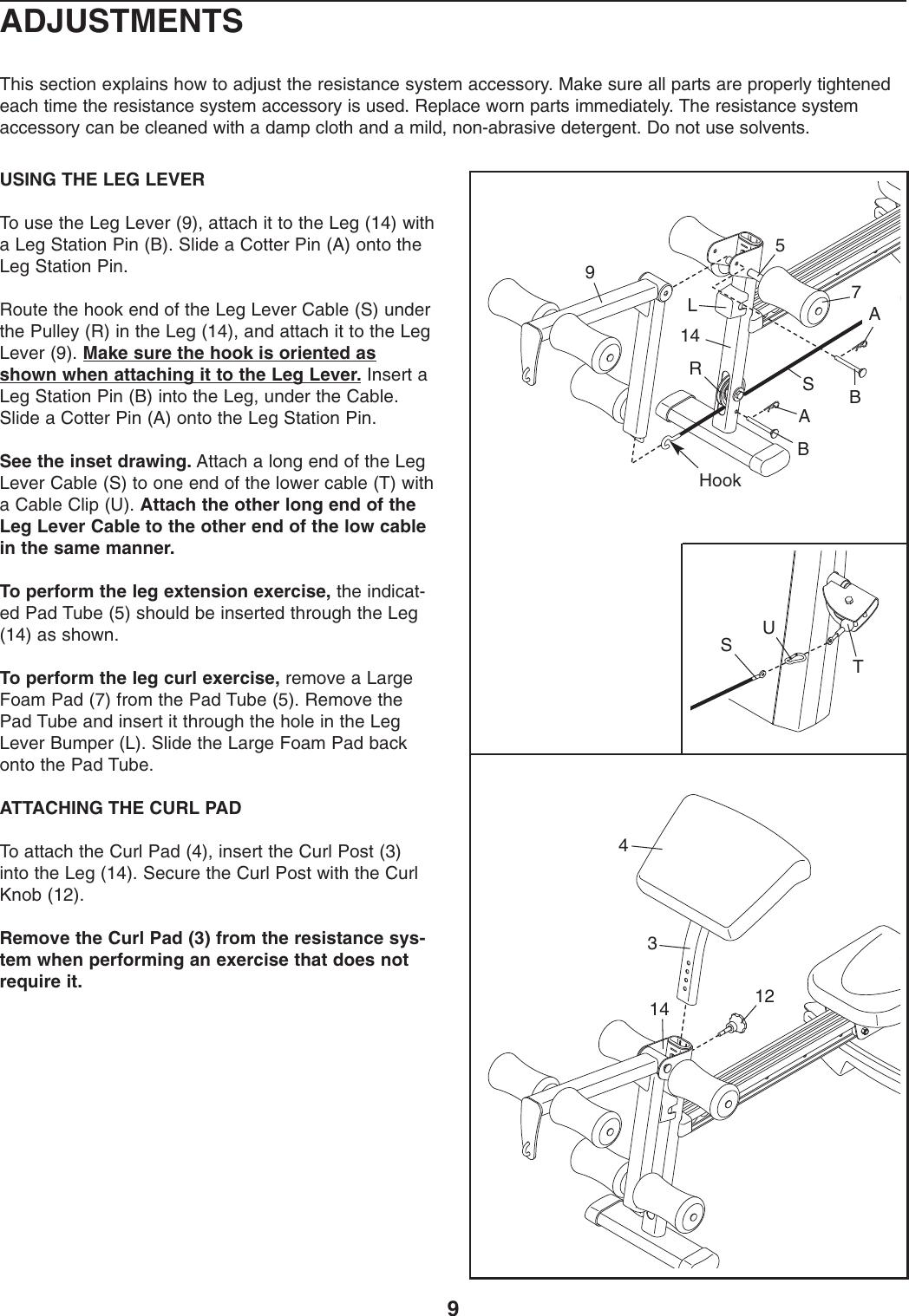 Weider Crossbar Platinum Accessory Wemc0773 Users Manual WEMC07730 ...