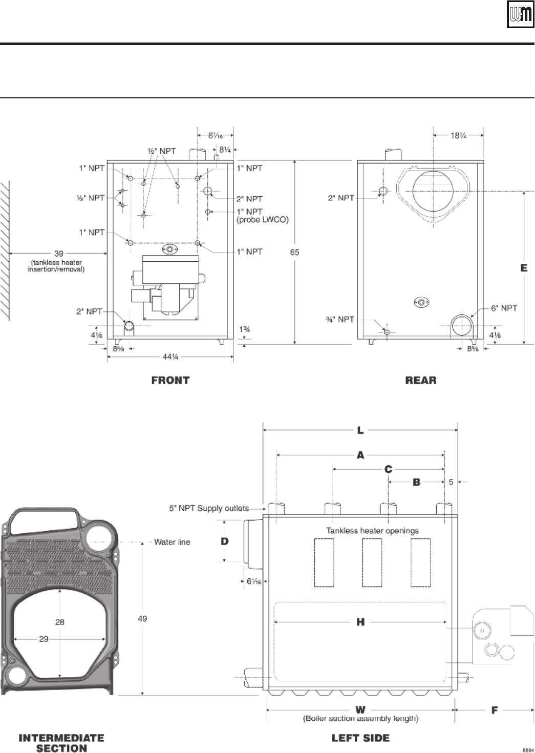 Weil Mclain 88 Users Manual Boiler Schematic Diagram Installation Start Up Maintenance Parts