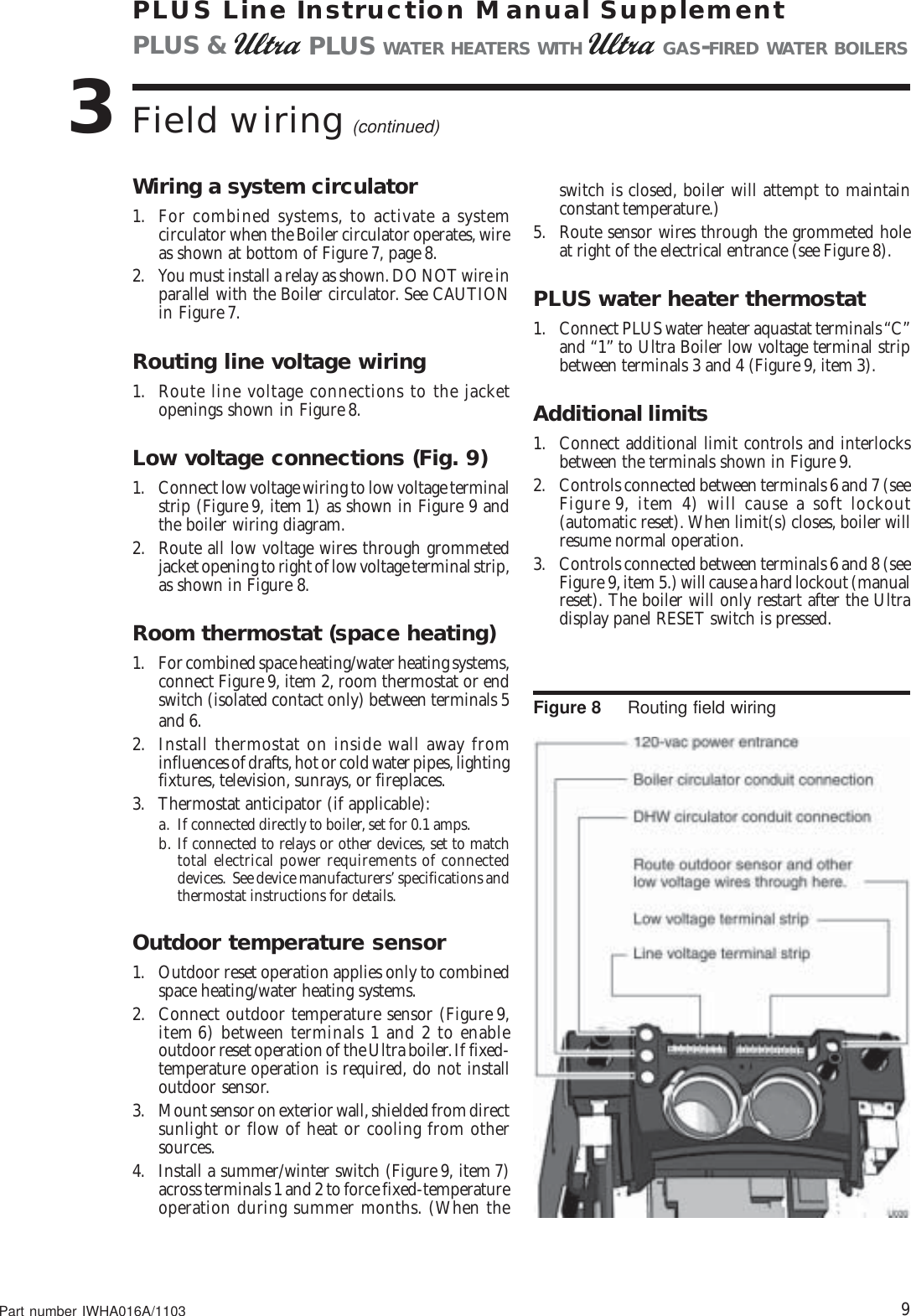 Weil Mclain Ultra Electric Water Heater Users Manual Iwha 110603 Boiler Wiring Diagram Page 9 Of 12