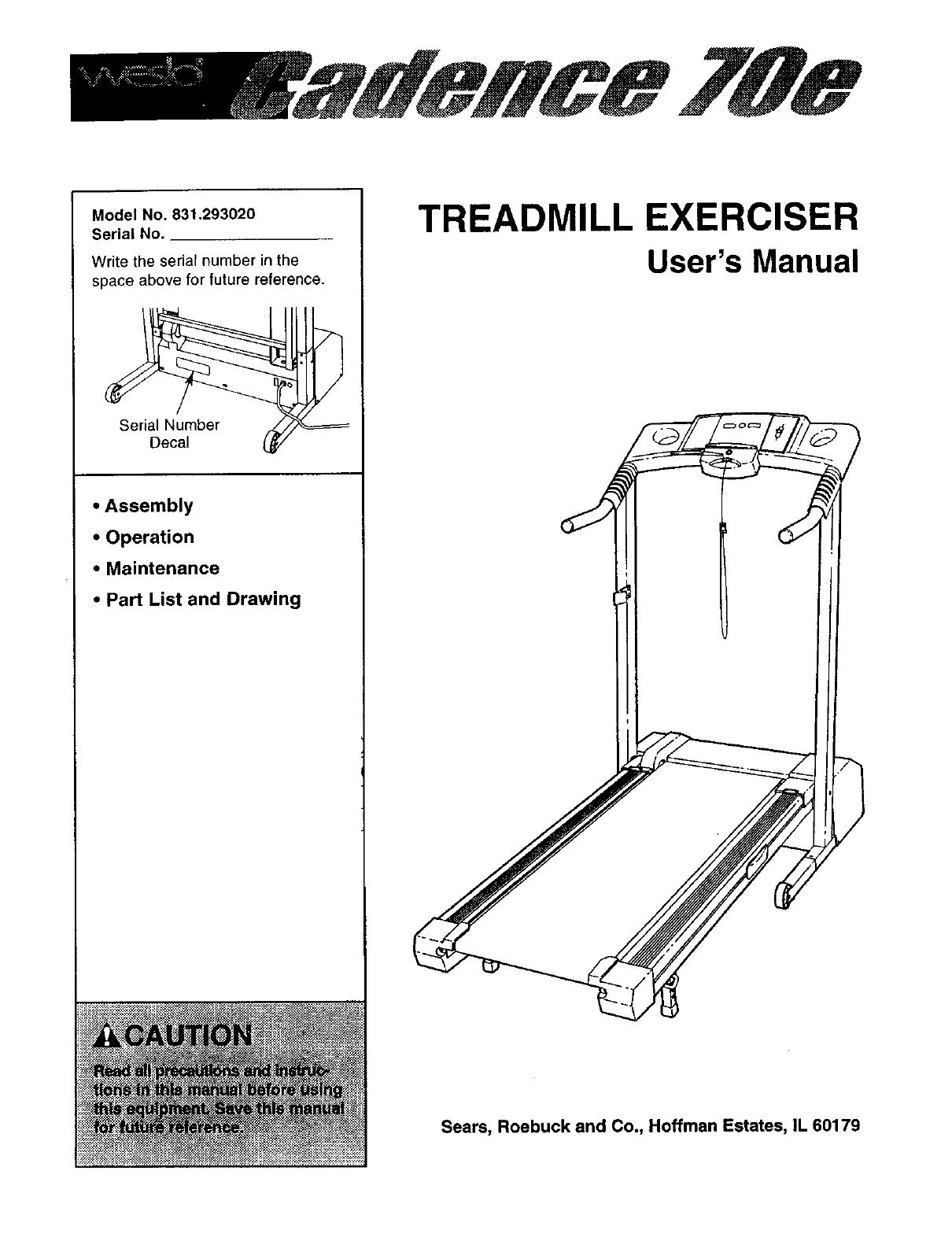 Weslo Treadmill Wiring Diagram