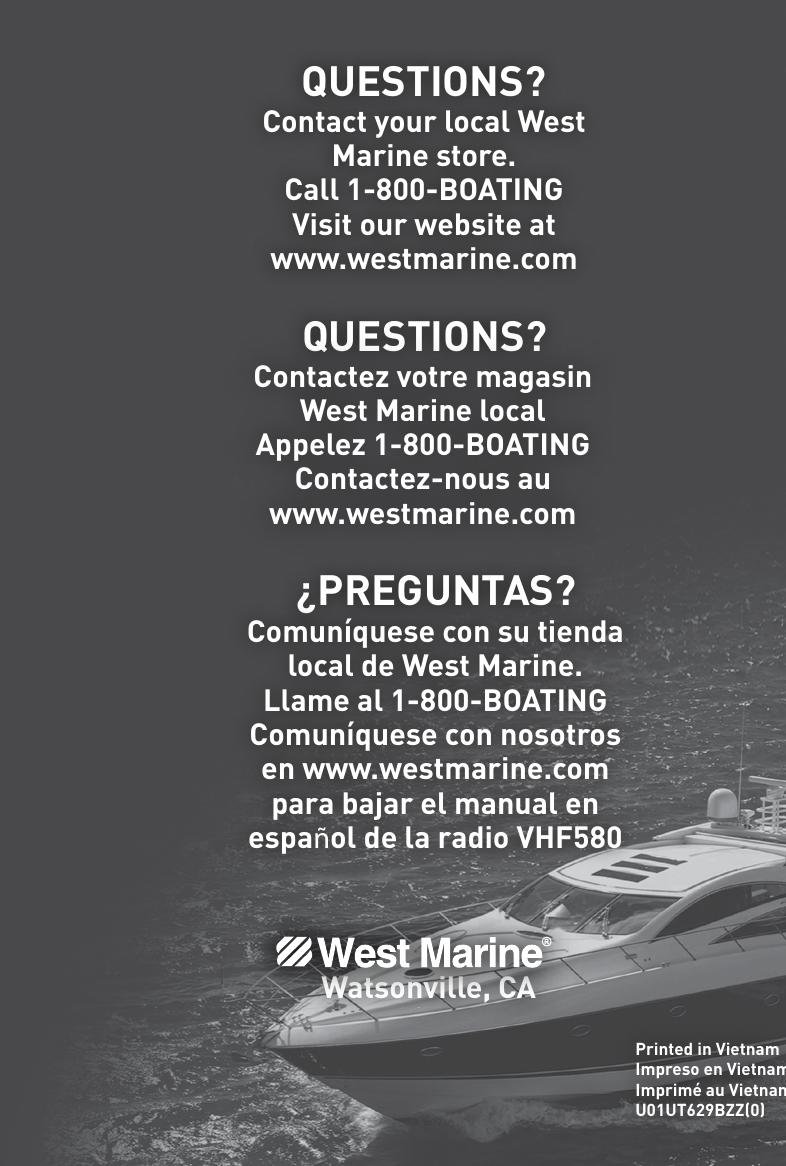 West Marine Radio Vhf580 Users Manual