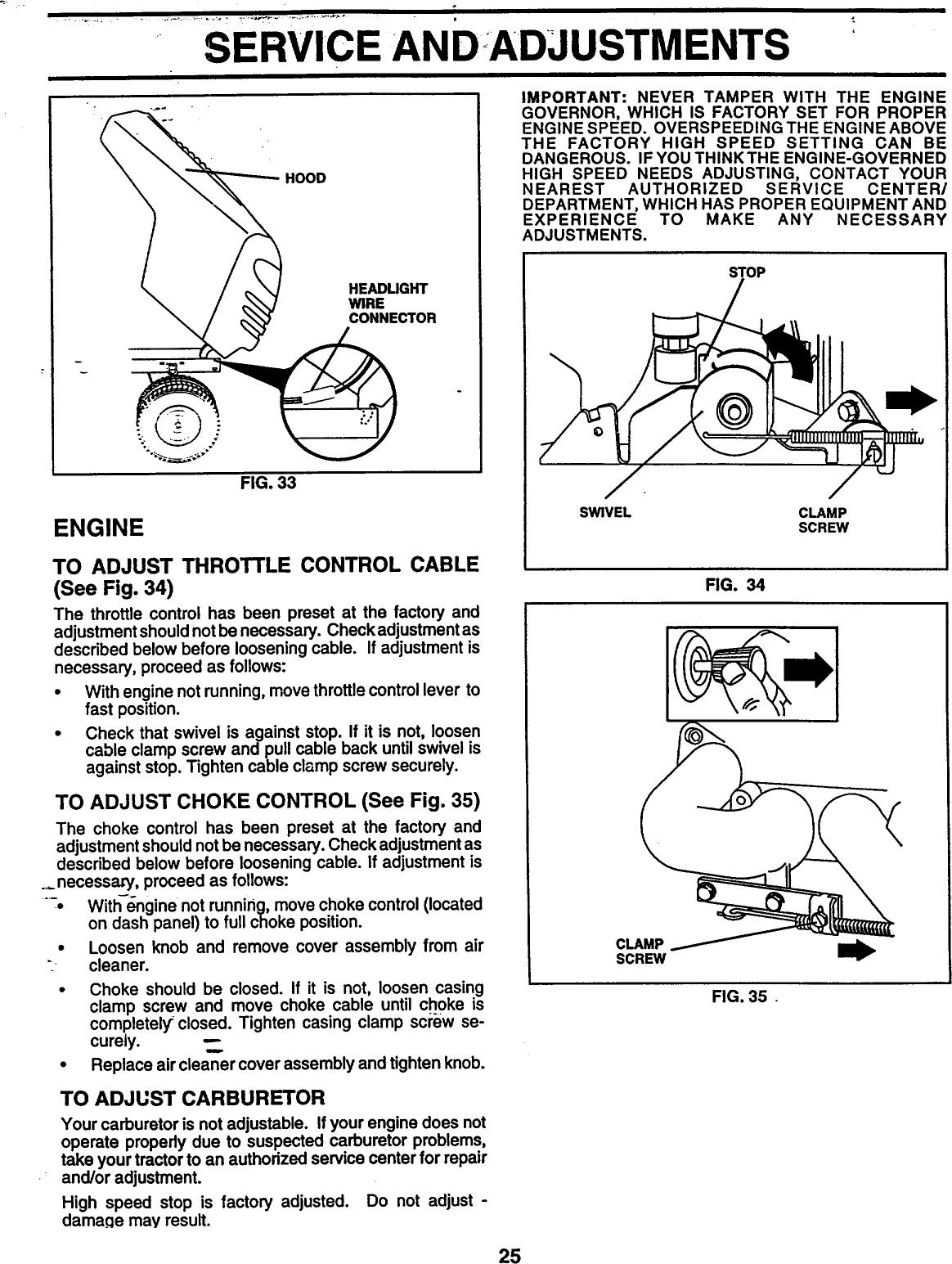 Western Auto AYP9187B89 User Manual WIZARD LAWN TRACTOR