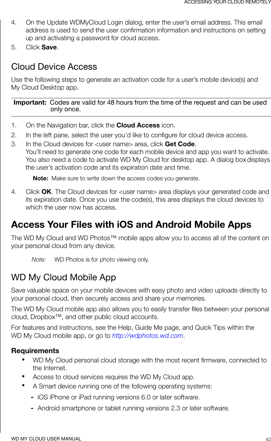 Western Digital My Cloud Ex4100 Users Manual CloudMirror Personal