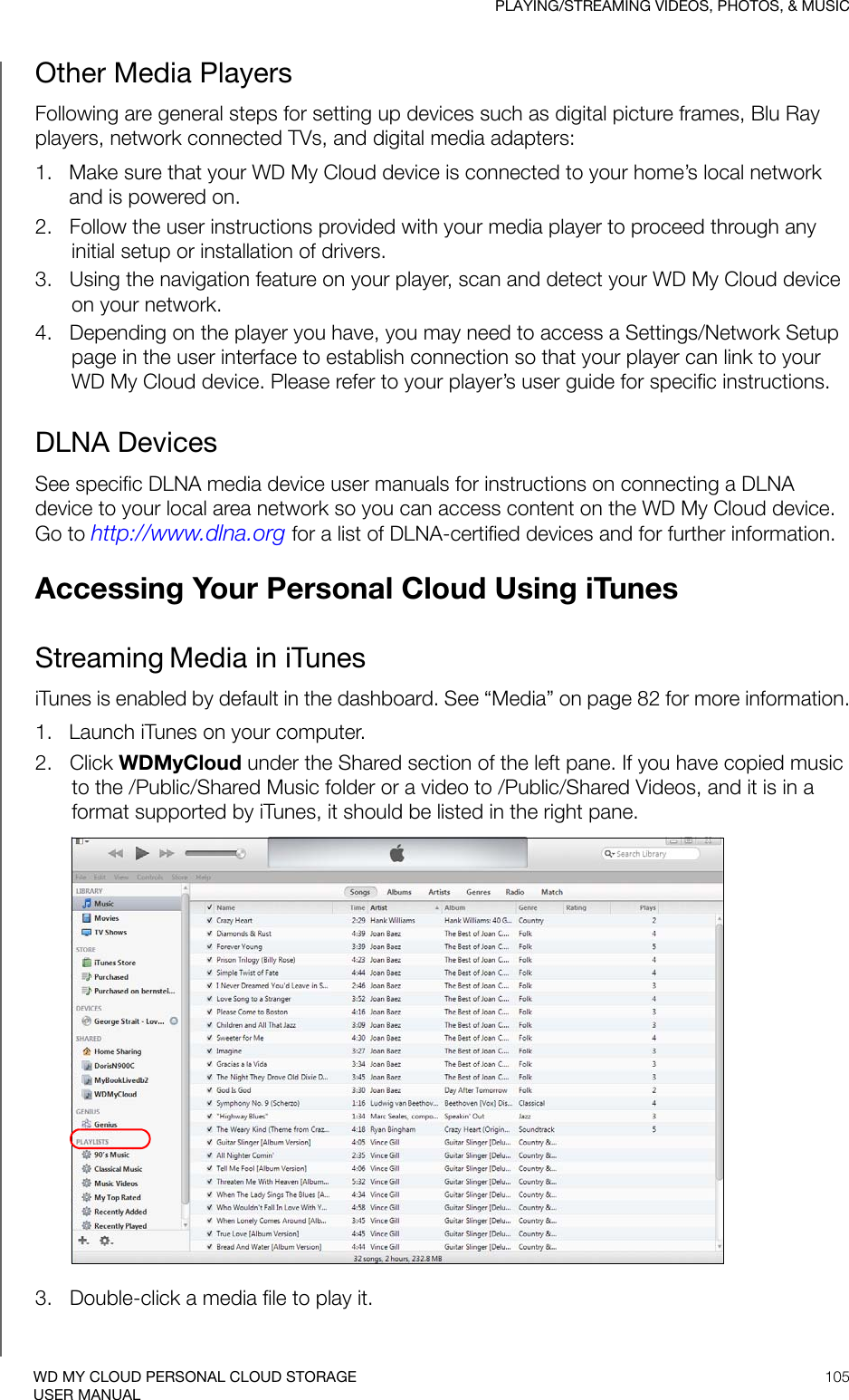 Western Digital My Cloud Users Manual Personal Storage User