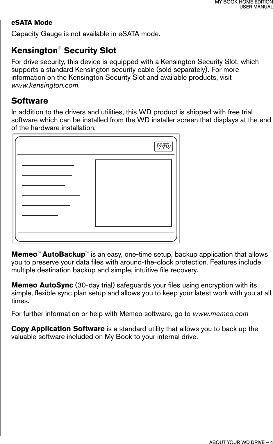 Western Digital Wd10000H1U 00 Users Manual 820173 My Book