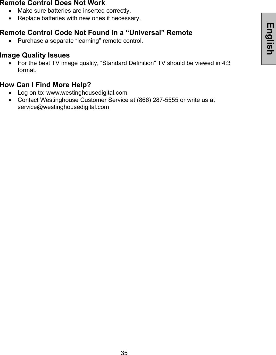 Westinghouse W3213 Hd Users Manual LT32 User Manuel Friday_01