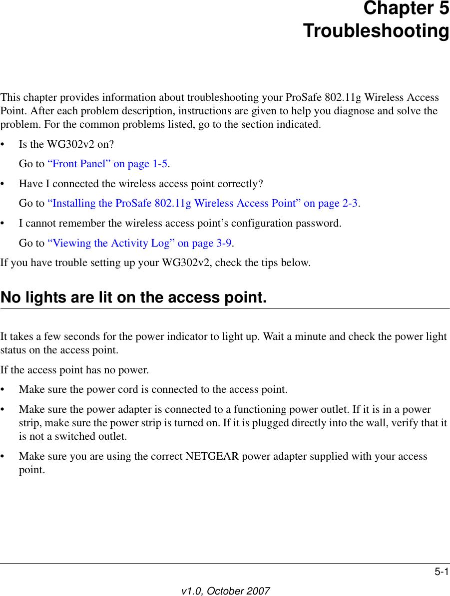 W// Power Adapter 802.11g Netgear ProSafe WG102 Wireless Access Point