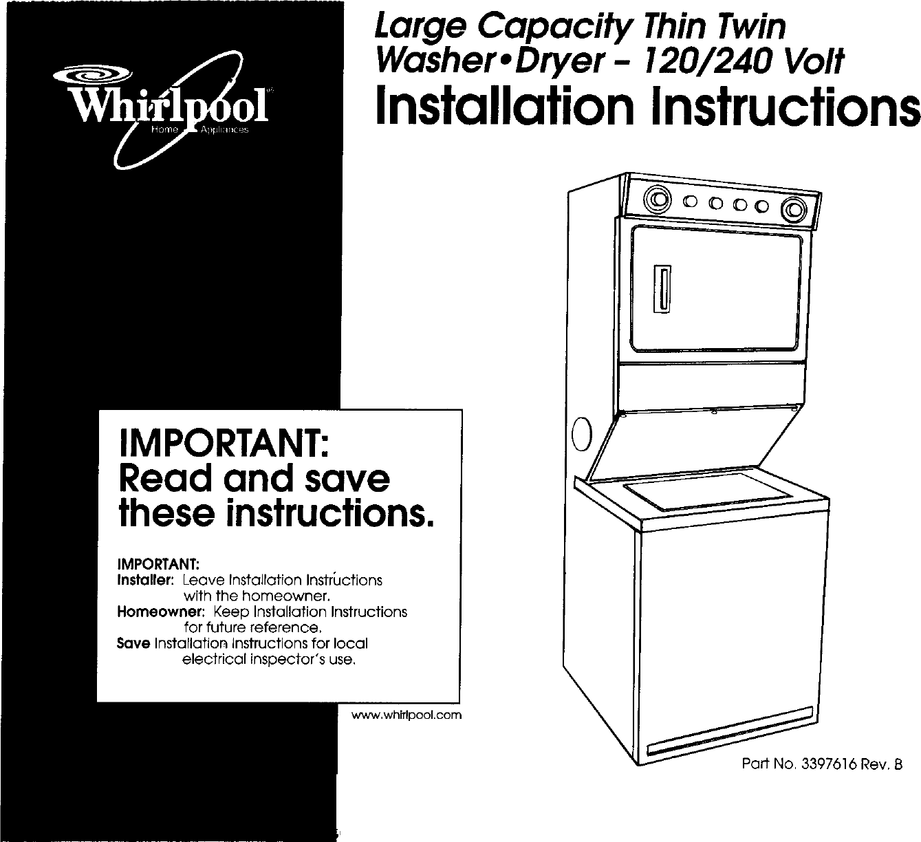 Www Whirlpool Com >> Whirlpool Lte6234dq1 User Manual Laundry Center Manuals And