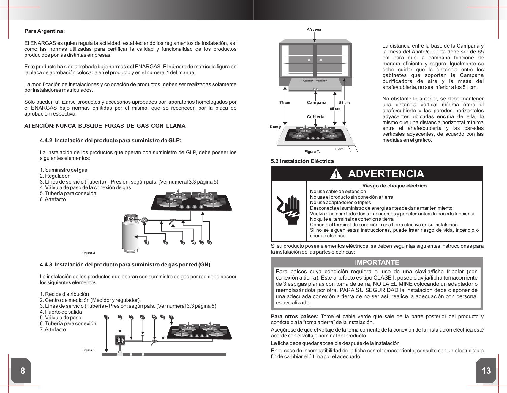 M 86 MANUAL CUBIERTA FUEGO WHIRLPOOL CHILE WDB60X Usuario WDB60XE
