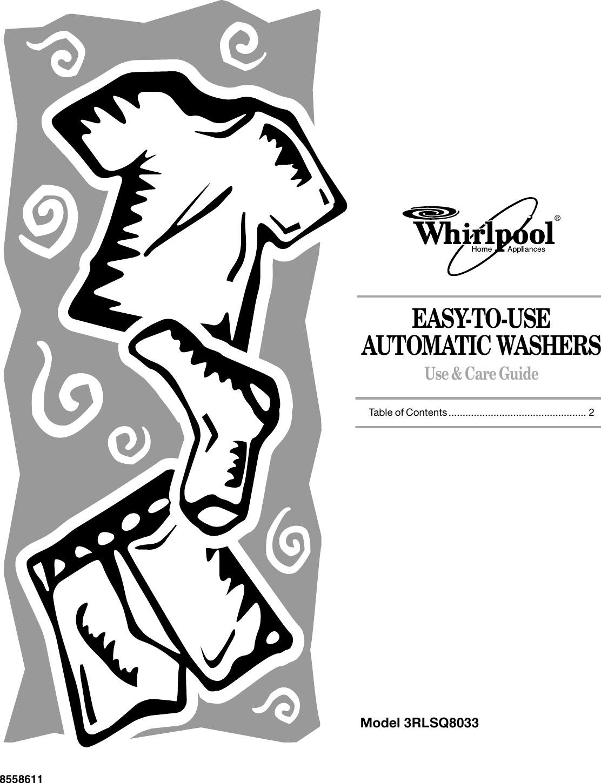 Whirlpool 3Rlsq8033 Users Manual