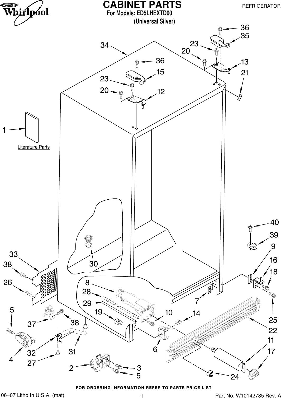 Refrigerators & Freezers 2252127 Whirlpool Refrigerator Dispenser Mechanism Sleeve; A6-2a
