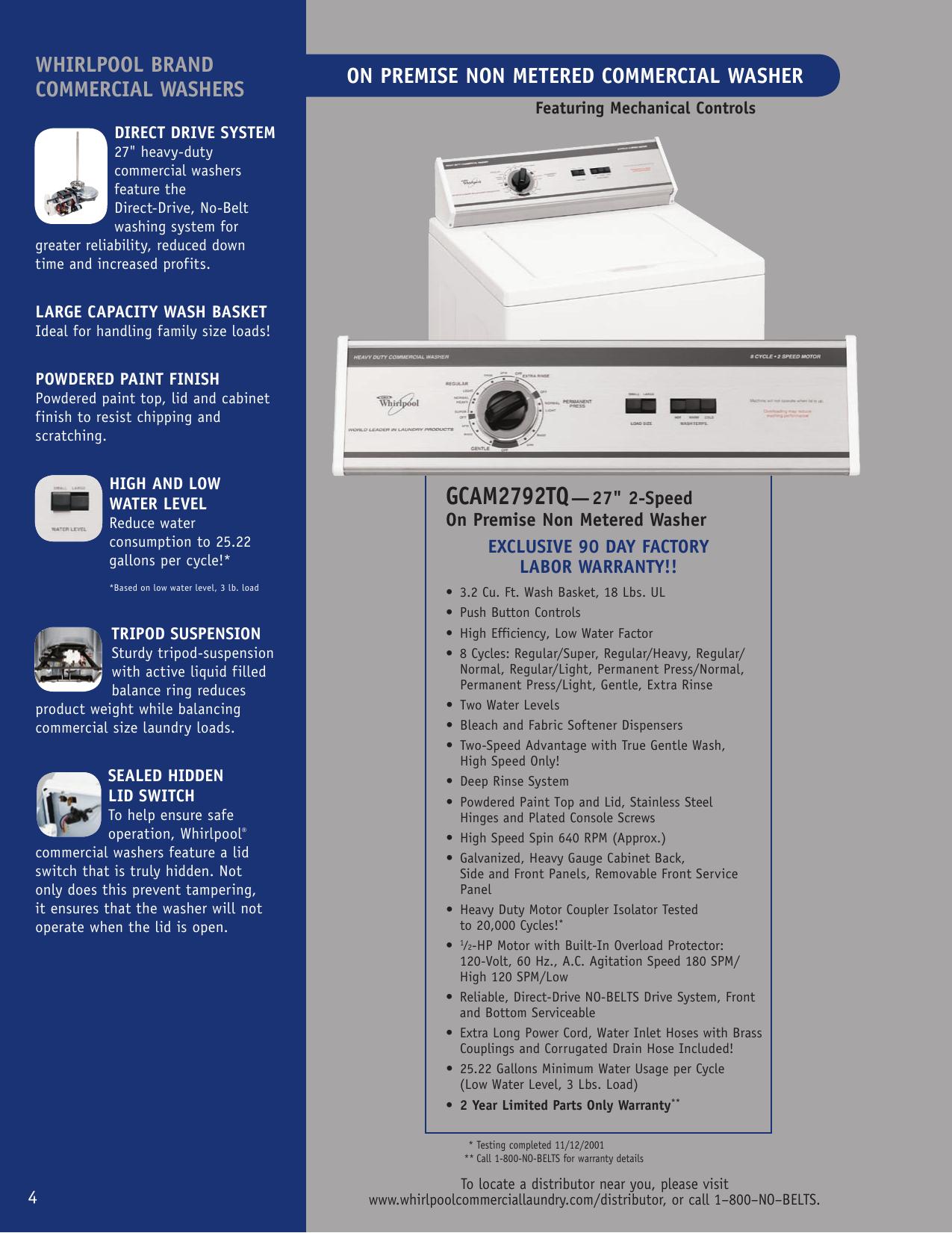 Page 1 of 2 - Whirlpool Whirlpool-Gcam2792Tq-Users-Manual-  Whirlpool-gcam2792tq-users-manual