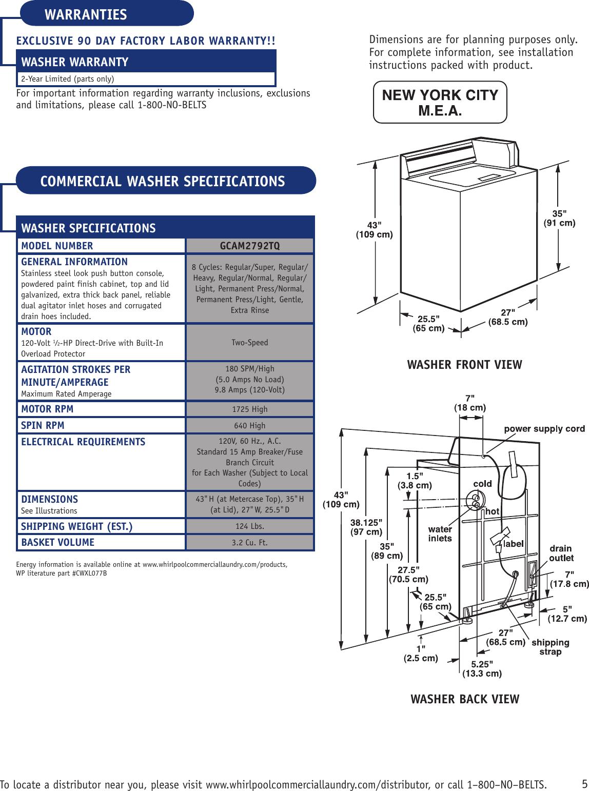 Page 2 of 2 - Whirlpool Whirlpool-Gcam2792Tq-Users-Manual-  Whirlpool-gcam2792tq-users-manual