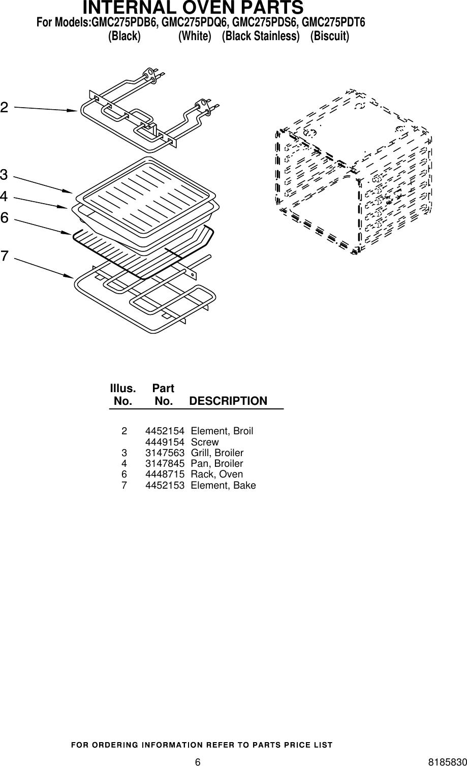Whirlpool Gmc275Pdb6 Users Manual