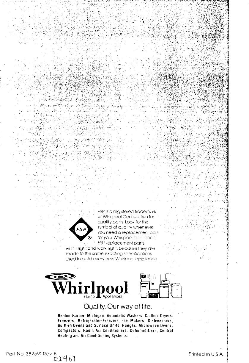 Whirlpool La5580Xk Users Manual Unknown