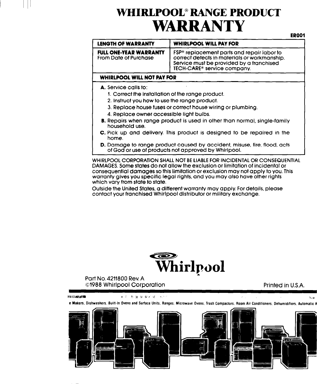 Whirlpool Rc8430Xt Users Manual Unknown