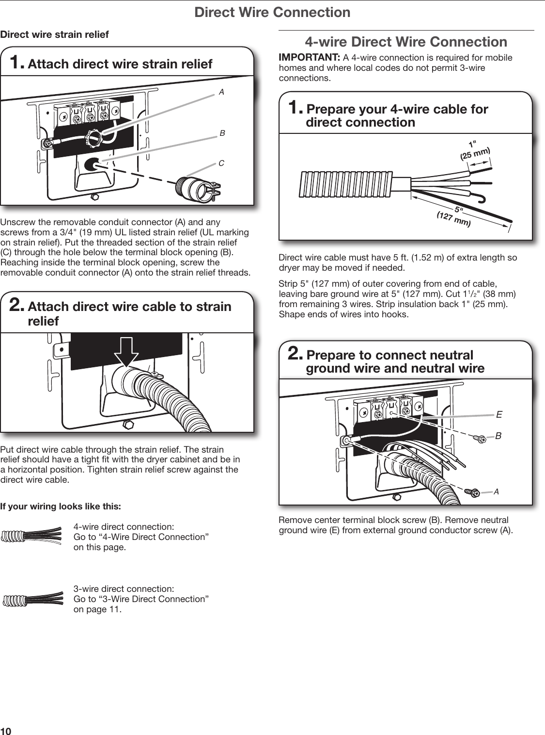 Whirlpool W10115226b Users Manual Dryer 4 Prong Wiring Diagram Page 10 Of 20