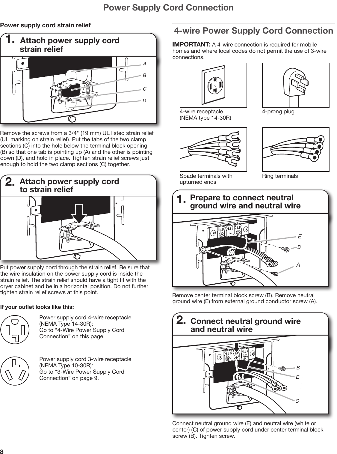 Whirlpool W10115226b Users Manual Cord 3 Wire Diagram Page 8 Of 20