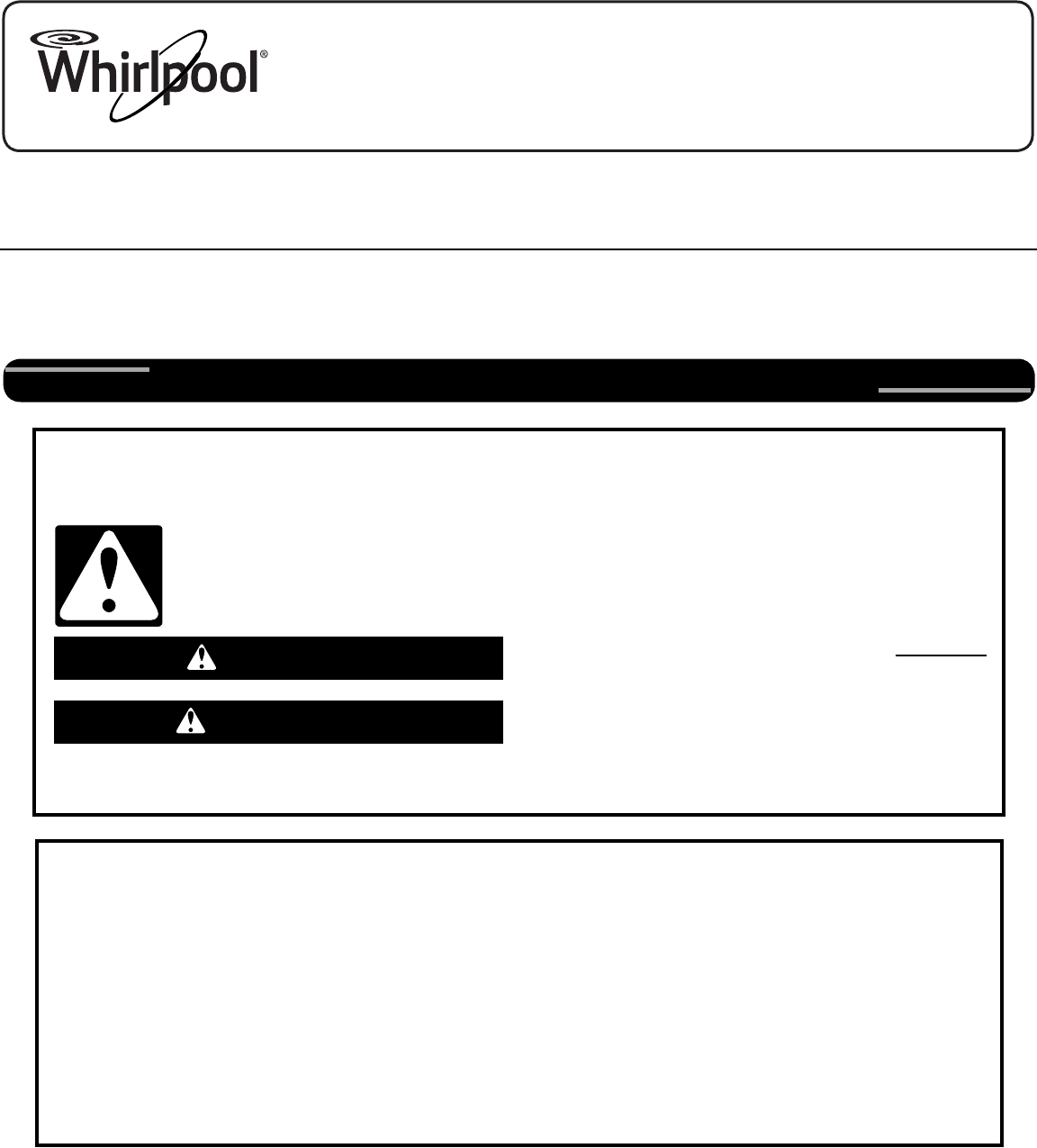 Whirlpool W10545082a Users Manual